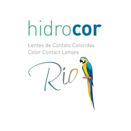 Lentes de Contato Coloridas Hidrocor Rio Anual com Grau