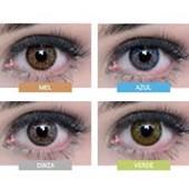 Lentes de Contato Coloridas Natural Vision Anual com Grau